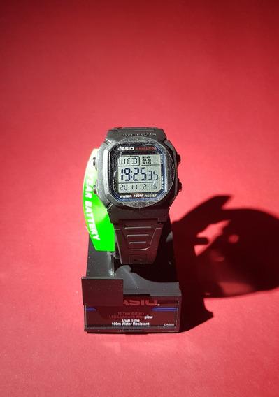 Relógio Casio Illuminator W-800h-1av Original + Brinde