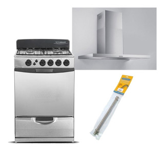 Combo Cocina Ormay A3 + Campana Tst Nihuil + Flexible Gas
