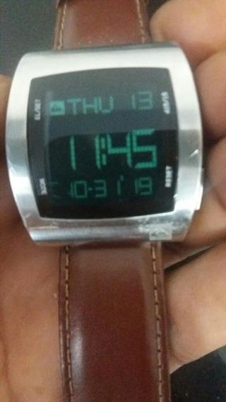 Relógio Quiksilver Digital Caixa De Titânio Pulseira De Cou