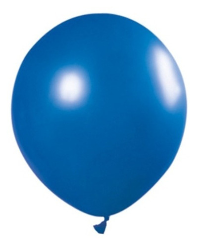 Globos Perlados Azul Electrico 12 Pulgadas X 50 U Decoración