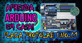 Kit De Arduino Para Makers (diy) Placa Protolab + Apostilas