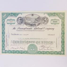 Apólice De Ação The Pennsylvania Company 1964 Antigo Coleção