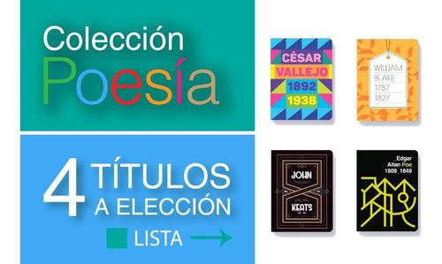 Pack 4 Libros Colección Poesía - Antología - Batiscafo
