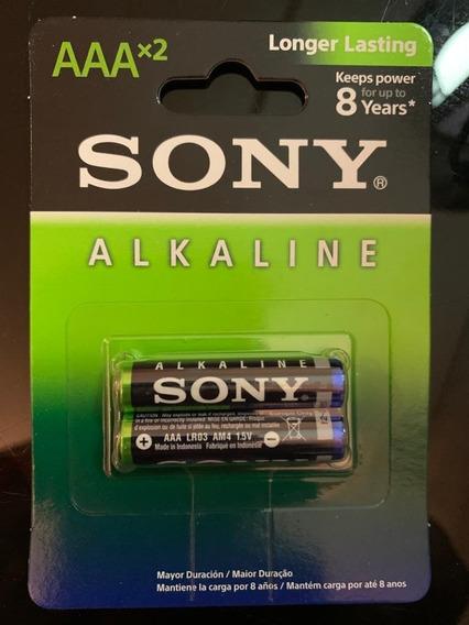 Pilha Alcalina Sony Aaa Palito 12x2 Blister