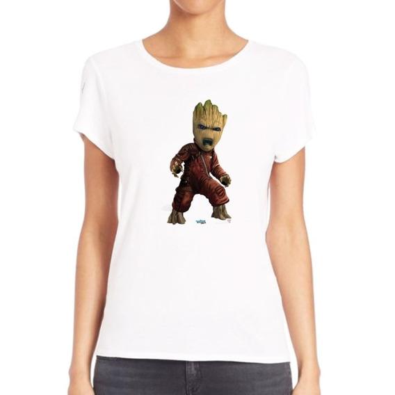Remera De Mujer Groot I Am Baby Guardianes Arbol M14