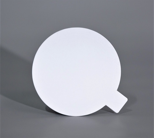Disco Plastificado Ppm Blanco Mate D. 12 Cm Pestaña (x200u)