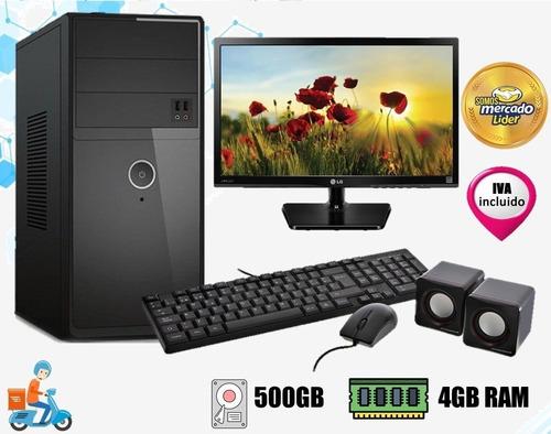 Imagen 1 de 7 de Computadora Cpu Amd/dualcore Nueva  500gb 4gb Led20 I3,i5,i7