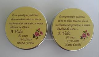 50 Latinha Personalizada Festa 80 Anos/lembrança Adulto