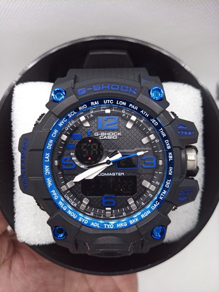 Relógio Gshock Mud Master Preto/azul.