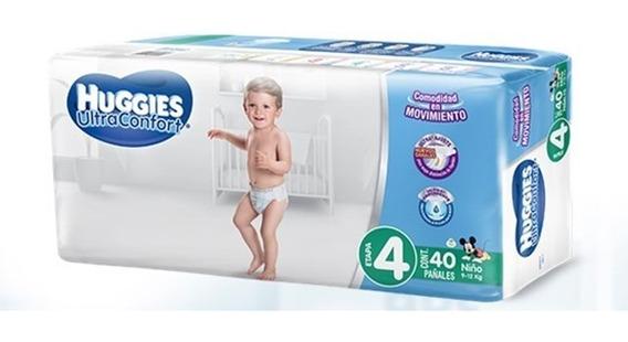 Pañal Huggies Ultra Confort E-4 Niño 40 Uni.
