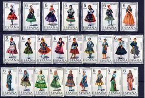 Grc202 Selos Espanha 1967-71 Trajes Típicos Mint C/goma 53 V