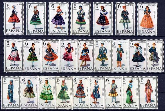33 Séries Espanha 1967-71 Trajes Típicos Mint C/goma 53 V