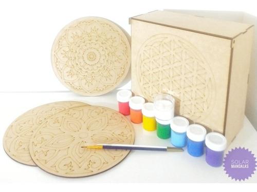 Kit Mandalas Para Pintar Flor De La Vida Geometría Arte