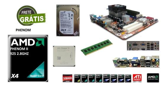 Kit Placa Mãe Black Editio Phenom Quadcore Ii X4 8gb Ddr3