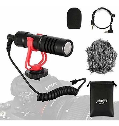 Moukey Mcm-1 - Micrófono Para Cámara Réflex Digital, Cámara