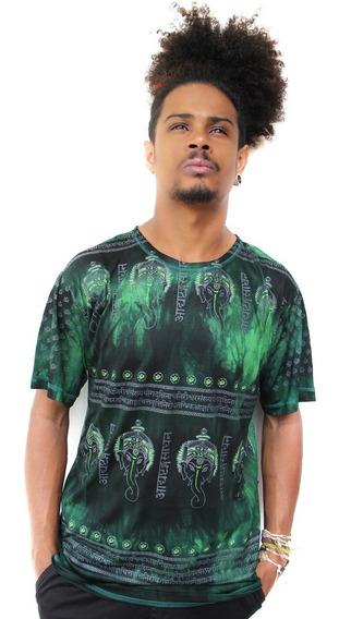 Camiseta Indiana Masculina De Viscose Tie Dye