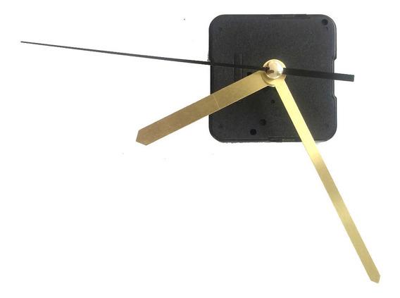 10 Maquinarias Reloj Pared Mecanismo Manecillas Doradas
