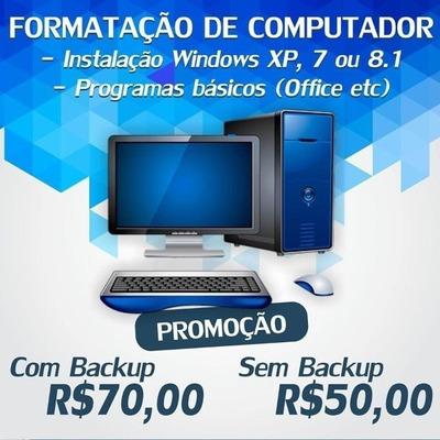 Atendemos A Domicilio Formatação, Remoção De Vírus, Internet