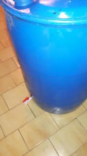 Bidón Tambor Plástic 200 L Canilla 1 Pulgada Tapa Rebatible