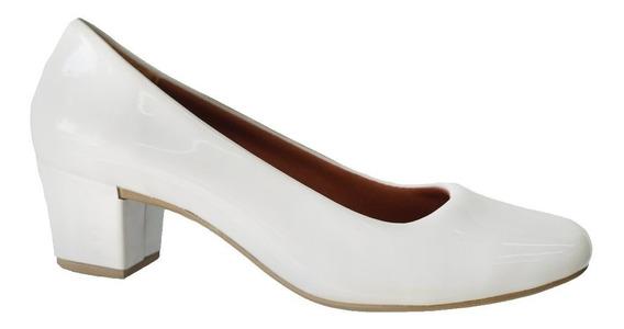Sapato Social Feminino Confortável Salto Baixo Grosso 820