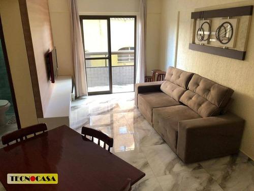 Imagem 1 de 30 de Apartamento Com 01 Dormitório Para Venda Com 53 M² No Bairro Vila Tupi Em  Praia Grande/sp. - Ap6428