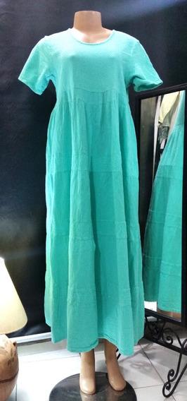 Vestido Modelo Colima Dunes Verde Agua