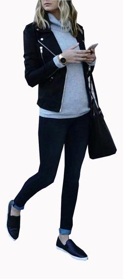 Jaqueta Casaco Agasalho Em Suede Preta Lançamento 201