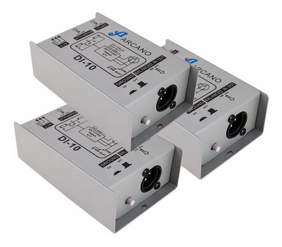 Kit 3 Direct Box Passivo Arcano Di-10 Custo X Beneficio