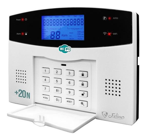 Wifi Kit 20 Alarma Gsm Celular Vecinales Seguridad Casa Sensores Inalambrica Defensa Alertas Control Via App Negocio