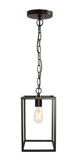 Colgante Cuadrado Oriol Con 1 Luz Industrial Minimalista