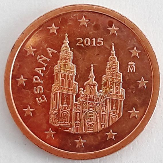 España 2 Euro Cent Año 2015 Catedral Santiago De Compostela