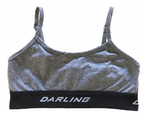 Top Deportivo Gris Oscuro Darling Corpiño Sport T. S