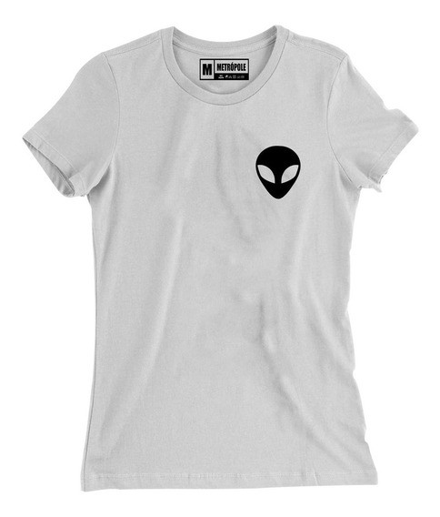 Camisa Camiseta Baby Look Feminina Alien Et Nasa Girls Tumbl