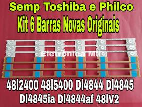 Kit 6 Barra De Led 48l2400/48l5400 Semp E Philco Nova Origi