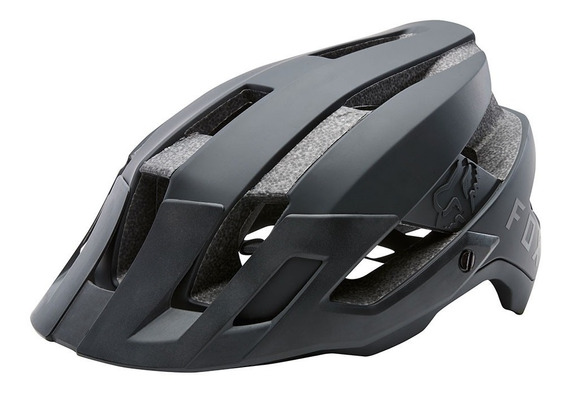 Capacete Ciclismo Fox Flux Solid Black Bike Original Pto S/m