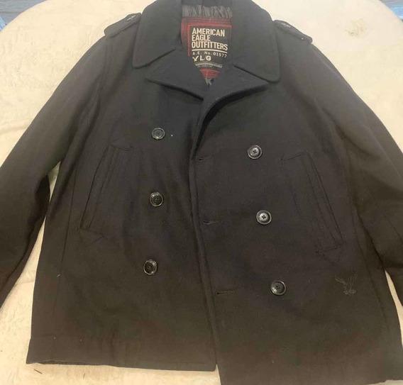 Abrigo Negro Hombre American Eagle Talla L