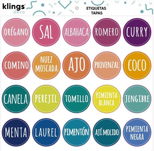 Etiquetas Personalizada Frascos Condimentos Especias Tapa
