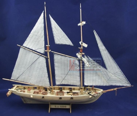 Miniatura Veleiro Madeira Halcon 1840