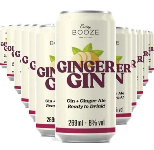 Imagem 1 de 1 de Easy Booze Lata Gin+ginger 269ml (12 Unidades)