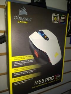 Mouse Gamer Corsair M65 Pro Rgb White Edition 12k Dpi