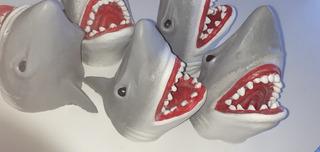 Shark Puppet Marioneta Títere Tiburón Látex Flexible Yeah