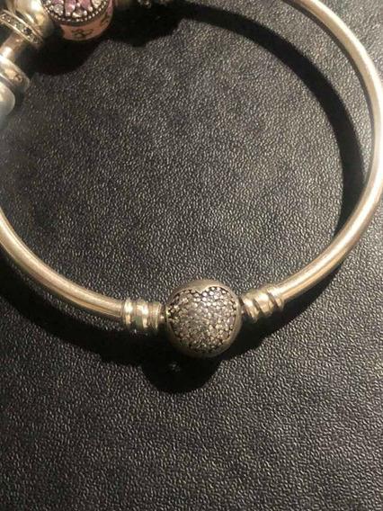 Bracelete Rígido Inspiração Pandora Prata 925