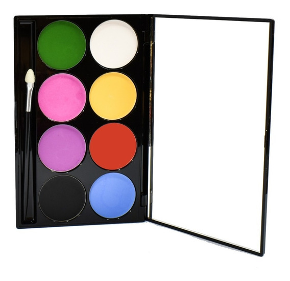 Paleta De Maquillaje Artístico Cremoso X 8 Colores Xúlu Z480