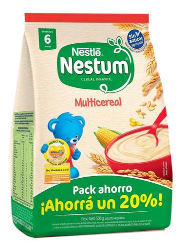Nestlé Nestum Multicereal Infantil Sin Azúcar 500ml
