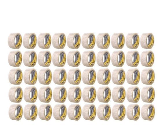 Fita Adesiva 50 Peças 50mts P/ Caixas Vonder - Atacado