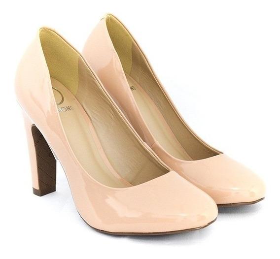 Sapato Dumond 4113394 Soft Verniz Nude Original