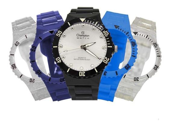 Relógio Feminino Champion Troca Pulseiras Cp38086r / 77311