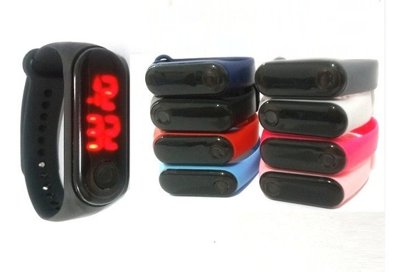 Kit 15 Relógios Pulseira Silicone Digital Led Bracelete