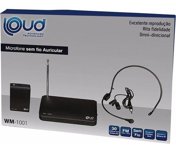 Microfone Sem Fio Auricular Loud Wm-1001