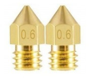 Imagem 1 de 3 de 2 Bicos - Nozzle - 1.75mm - 0.6mm - Mk7 Mk8